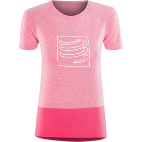 Compressport Training Løpetrøyer kortermet Dame pink